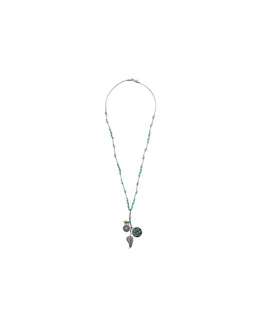 Lucky Brand   Metallic Mosaic Charm Long Necklace   Lyst