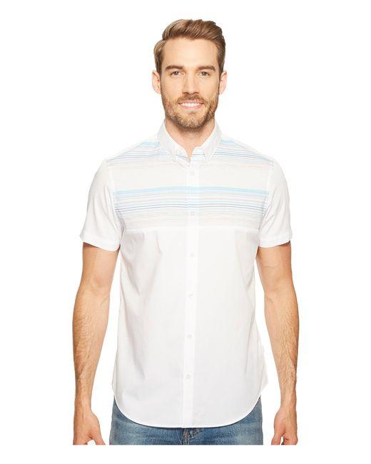 Calvin Klein | White Pieced Horizontal Stripe Button Down Shirt for Men | Lyst