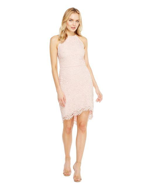Adelyn Rae | Pink Louise Fishtail Sheath Dress | Lyst
