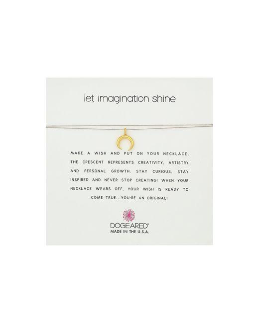Dogeared   Metallic Let Imagination Shine, Crescent Charm On Silk Thread, Necklace   Lyst