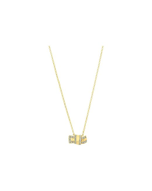 Kate Spade | Metallic All Tied Up Pave Knot Mini Pendant Necklace | Lyst