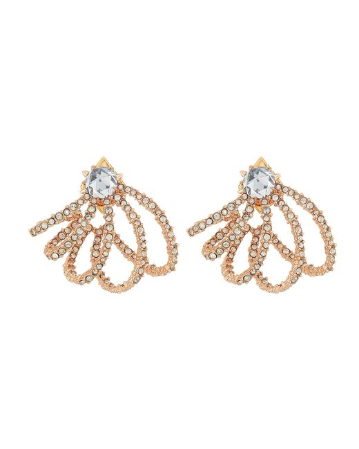 Alexis Bittar | Metallic Crystal Lace Orbiting Post Earrings | Lyst
