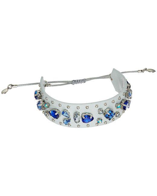 Rebecca Minkoff | Blue Jeweled Guitar Strap Bracelet | Lyst