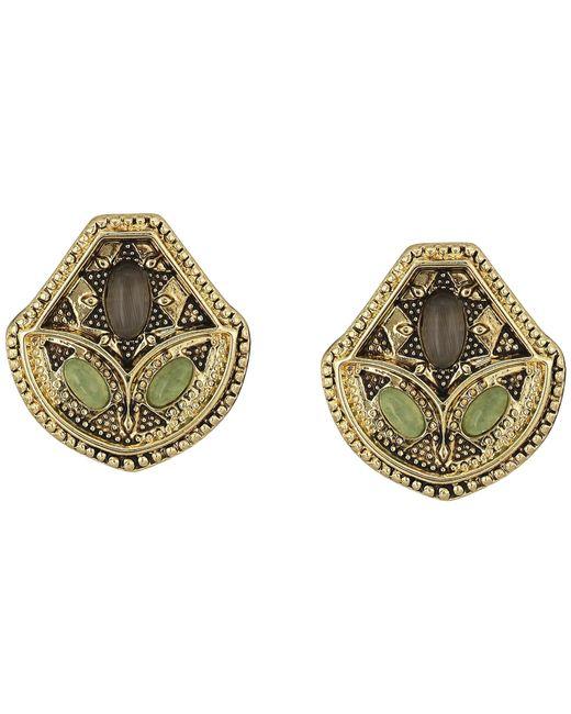 House of Harlow 1960 | Metallic Montezuma Stud Earrings | Lyst