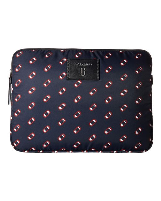 "Marc Jacobs | Blue Monogram Scream 13"" Computer Case 
