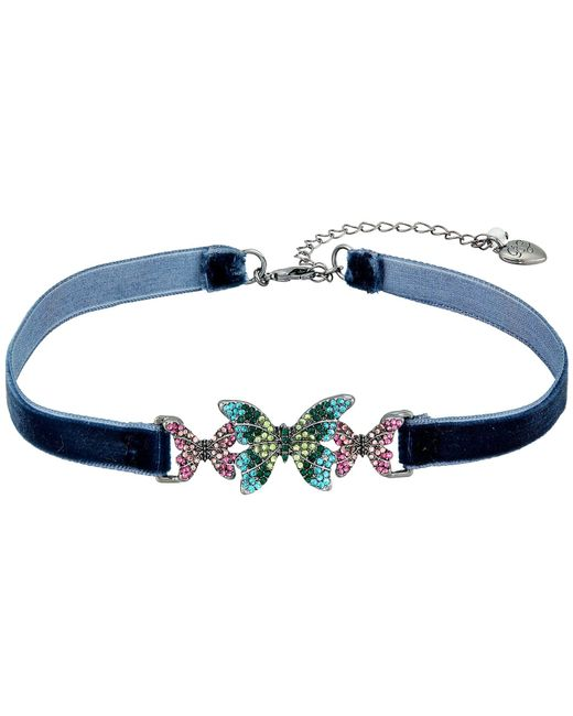 Betsey Johnson | Multicolor Butterfly Choker Necklace | Lyst
