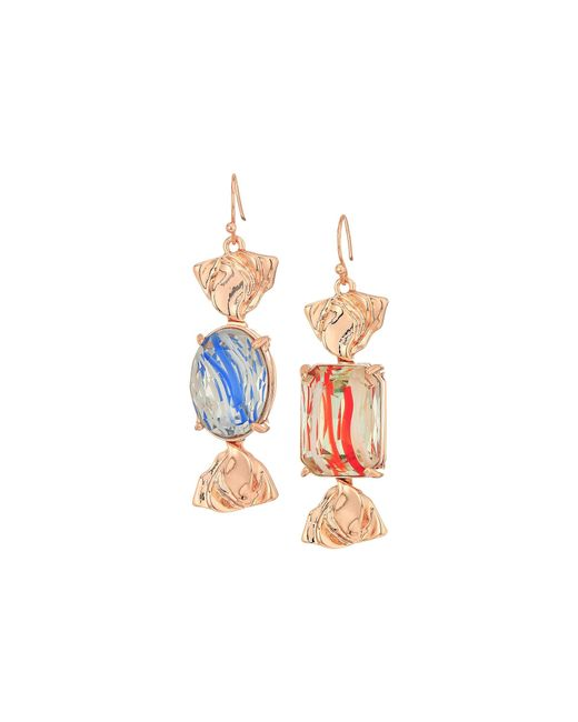 Betsey Johnson | Blue Candy Wrapped Earrings | Lyst