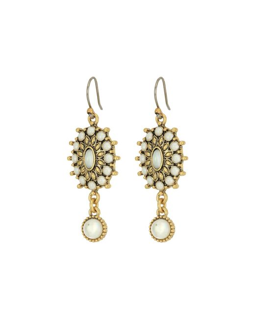 Lucky Brand | Metallic Mother-of-pearl Squash Blossom Earrings | Lyst