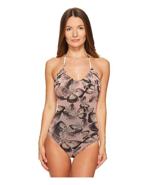 Fuzzi | Multicolor One-piece Butterfly Bathing Suit | Lyst