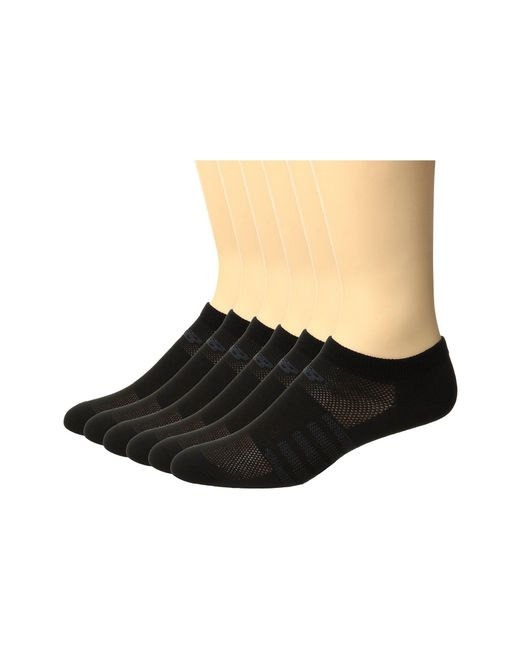 New Balance - Black Lifestyle No Show 6-pack (assorted 1) No Show Socks Shoes - Lyst
