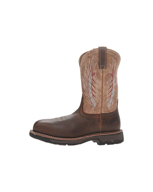 e3a2f871c440 ... Ariat - Workhog Mesteno Ii Ct (rustic Brown stone) Cowboy Boots for Men  ...