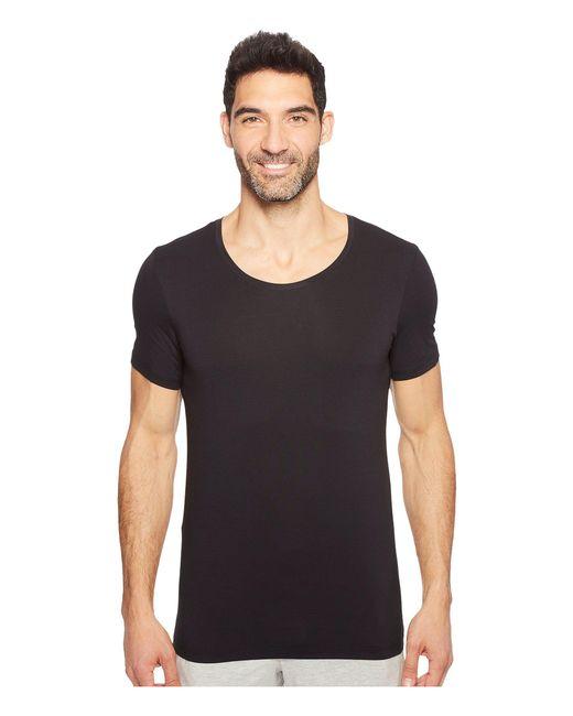 Hanro | Black Cotton Superior Short Sleeve Crew Neck Shirt for Men | Lyst