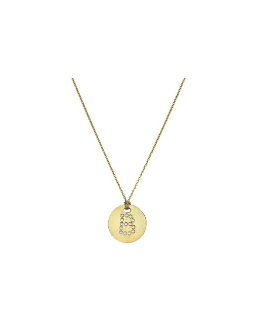 Roberto Coin - Tiny Treasures 18k Yellow Gold Initial B Pendant Necklace (yellow Gold) Necklace - Lyst