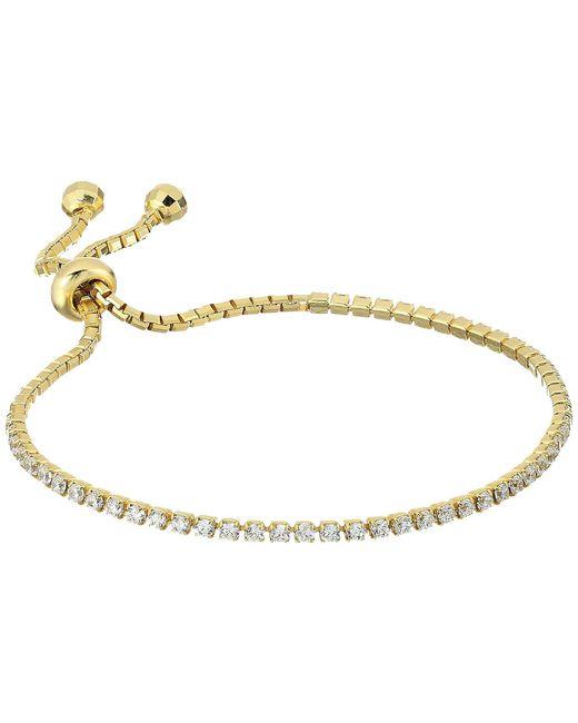 Shashi - Metallic Tennis Slide Bracelet - Lyst