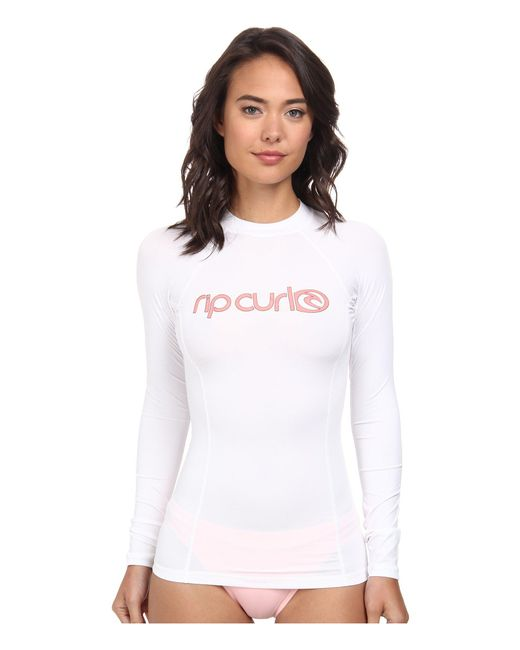 Rip Curl | White Surf Team Long Sleeve | Lyst