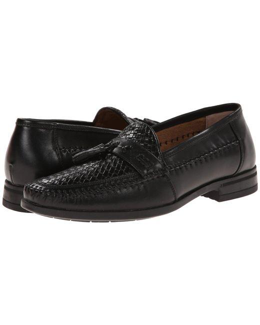 Nunn Bush - Black Strafford Woven Moc Toe Loafer for Men - Lyst
