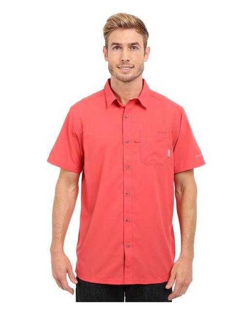 Columbia - Red Slack Tidetm Camp Shirt (vivid Blue) Men's Short Sleeve Button Up for Men - Lyst