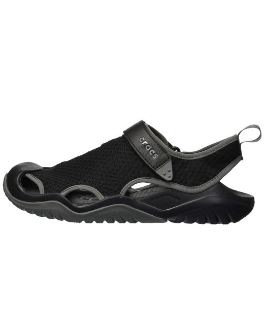 a6106b0ba01e ... Lyst Crocs™ - Swiftwater Mesh Deck Sandal (black) Men s Sandals for Men  ...