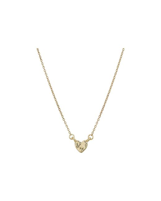 French Connection - Metallic Mini Heart Pendant Necklace 15 (gold) Necklace - Lyst