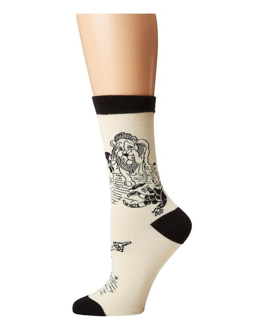 Socksmith - White Off To See The Wizard (ivory) Women's Crew Cut Socks Shoes - Lyst