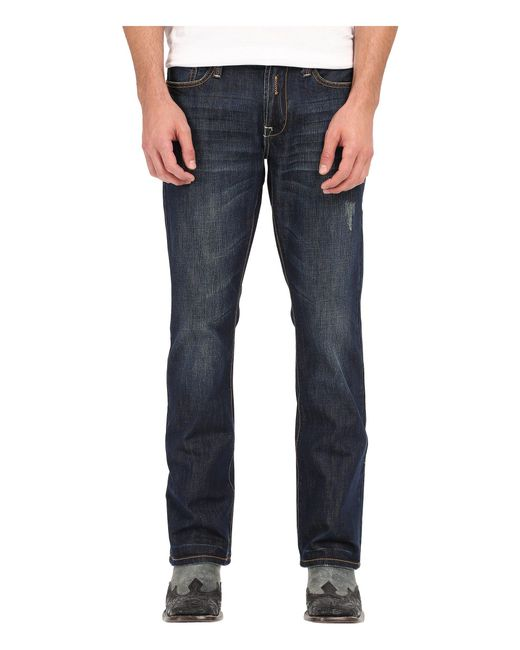 Stetson | Blue 1014 Rocker Fit Art Deco Contrast Stitched Back Pocket for Men | Lyst