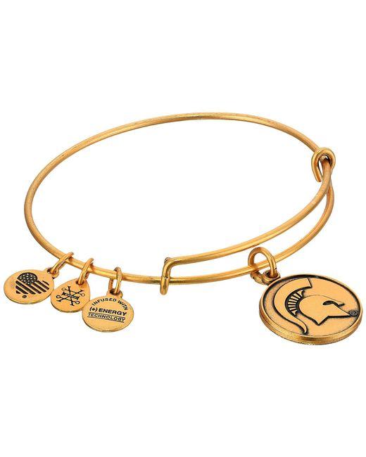 ALEX AND ANI - Metallic Michigan State University (rafaelian Gold) Bracelet - Lyst