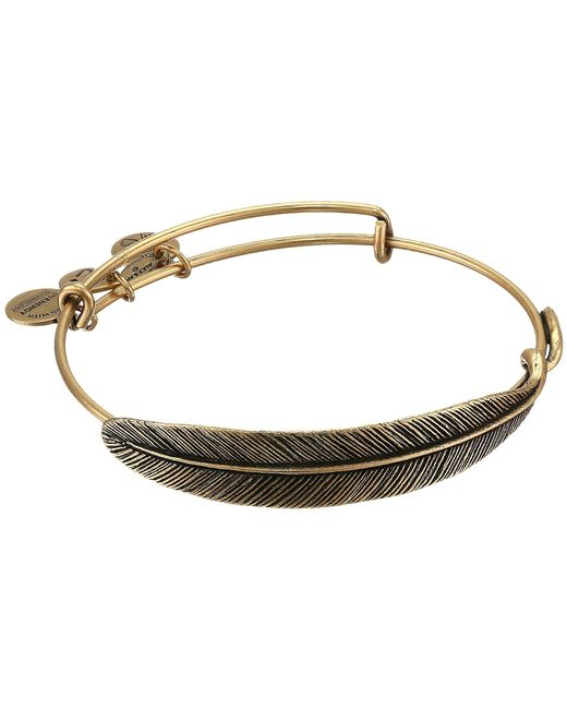 ALEX AND ANI - Metallic Quill Feather Bangle - Lyst
