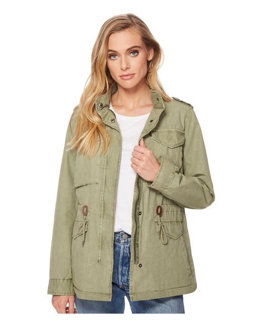 Levi's - Green Levi's(r) Four-pocket Utility Jacket (navy) Women's Coat - Lyst