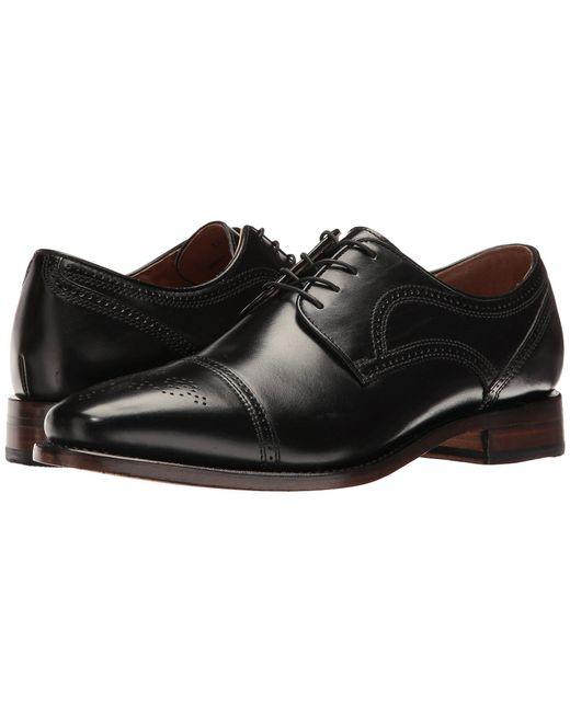 Johnston & Murphy - Collins Dress Cap Toe Oxford (black Burnished European Calfskin) Men's Lace Up Cap Toe Shoes for Men - Lyst