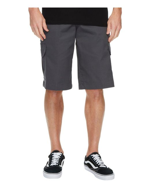 "Dickies - Gray 13"" Relaxed Fit Mechanical Stretch Cargo Shorts for Men - Lyst"