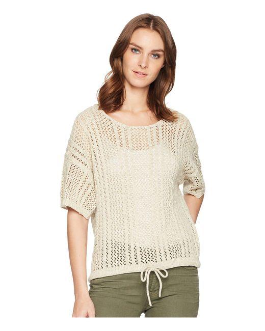 Splendid - Natural Drawstring Hem Pullover (heather Oatmeal) Women's Clothing - Lyst