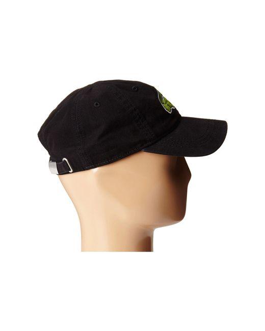 a6bcc7dc5a4f ... Lacoste - Black Big Croc Gabardine Cap (sinople) Baseball Caps for Men  - Lyst ...