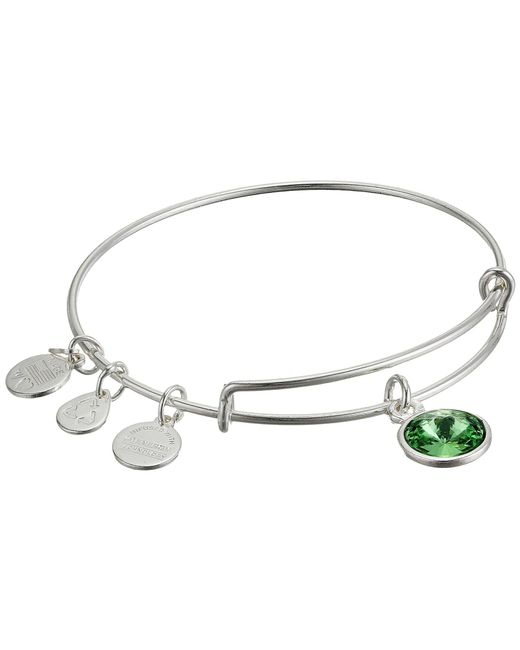 ALEX AND ANI | Metallic August Birthstone Charm Bangle | Lyst