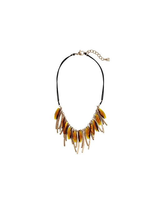 Robert Lee Morris - Metallic Topaz And Gold Frontal Necklace - Lyst