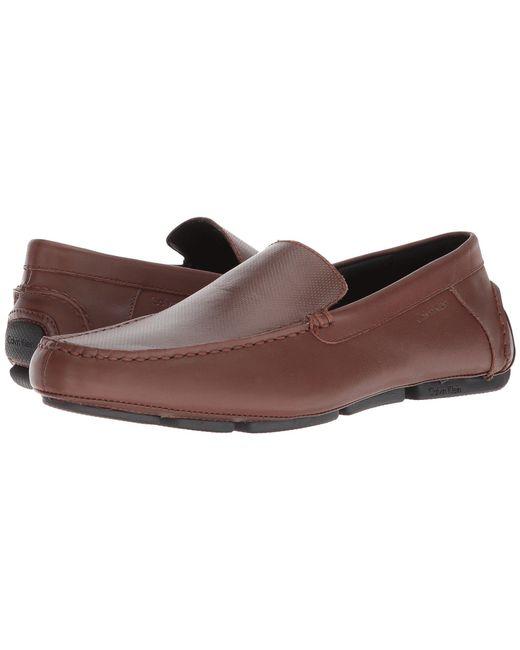 Calvin Klein - Brown Miguel (black Nappa Calf) Men's Shoes for Men - Lyst
