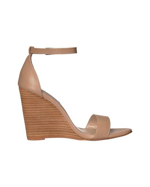 9360e4692cb ... Lyst Steve Madden - Natural Mary Wedge Sandal (black Suede) Women s  Sandals ...