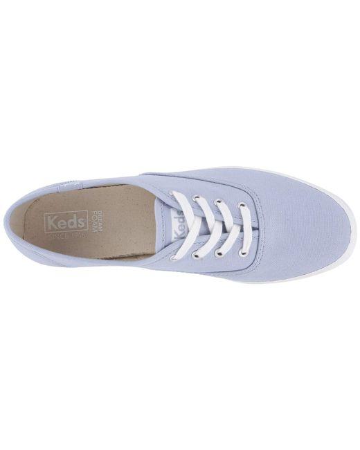 c0d713e9d74 ... Lyst Keds - Blue Champion Solids (dark Teal Canvas) Women s Shoes ...