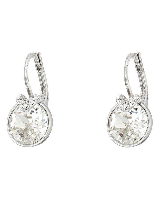 Swarovski - White Bella Pierced Earrings (gray) Earring - Lyst