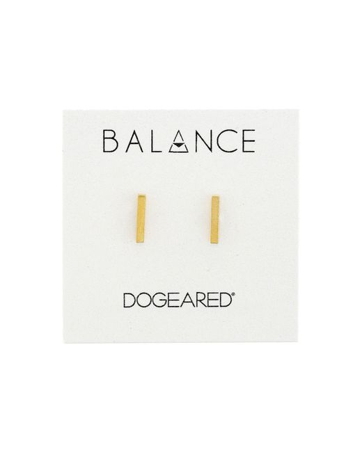 Dogeared - Metallic Balance Flat Bar Stud Earrings (sterling Silver) Earring - Lyst