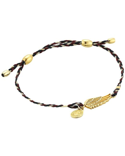 ALEX AND ANI - Metallic Precious Threads Wing Woodland Braid Bracelet (14kt Gold Plated) Bracelet - Lyst