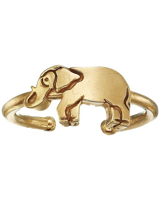 ALEX AND ANI - Metallic Elephant Adjustable Ring - Precious Metal (sterling Silver) Ring - Lyst