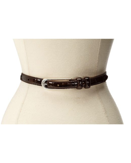"Brighton - Brown Skinny Mini 5/8"" Belt - Lyst"