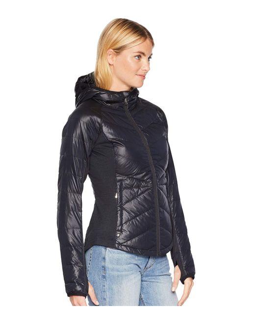 b84381894ce ... Lyst Spyder - Solitude Hoodie Down Jacket (black black) Women s Coat ...