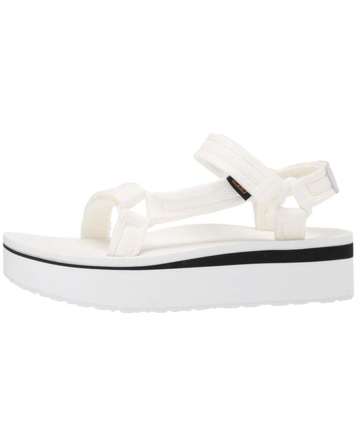 9321d78e115d ... Lyst Teva - Flatform Universal Mesh Print (bright White) Women s Shoes  ...
