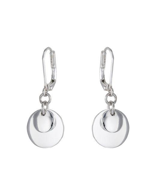Lauren by Ralph Lauren - Metallic Double Disk Drop Earrings - Lyst