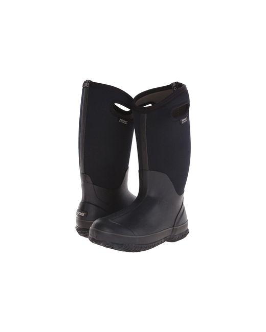 Bogs - Classic High Handles (black Shiney) Women's Boots - Lyst