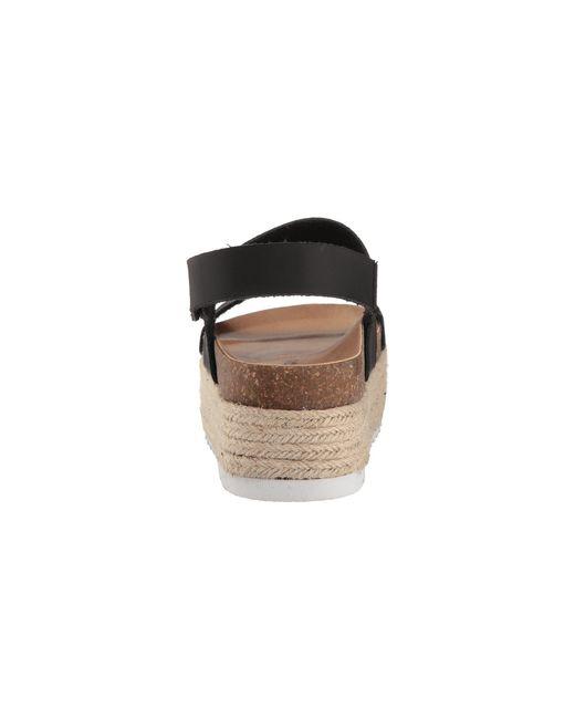 26fdb49c68 ... Dirty Laundry - Peyton Black Womens Espadrille Flatform Sandals - Lyst  ...