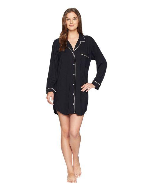 Eberjey - Gisele Nightshirt (black/sorbet Pink) Women's Pajama - Lyst