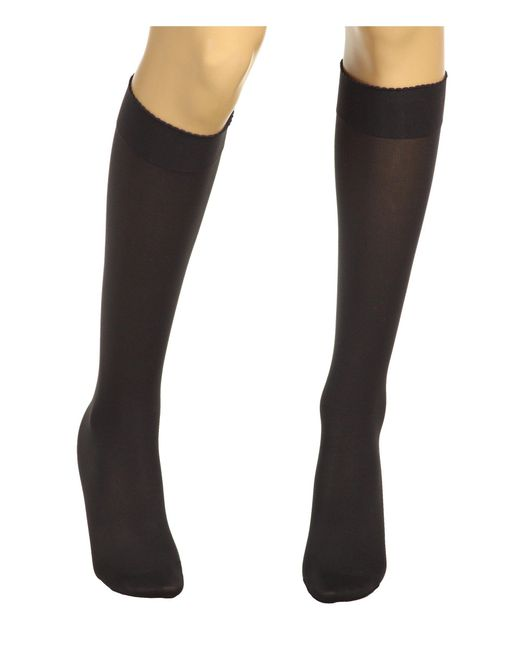 Wolford - Gray Velvet De Luxe 50 Knee-highs (anthracite) Women's Knee High Socks Shoes - Lyst