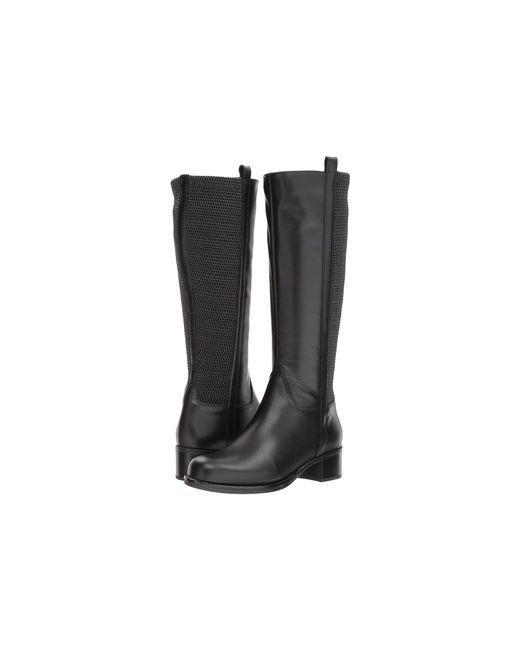 Lyst La Canadienne Senna Black Leather Women S Boots